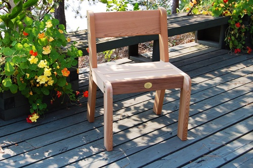 Cedar Bench with Back