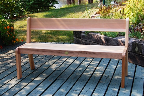 Lightweight Cedar Bench with Back
