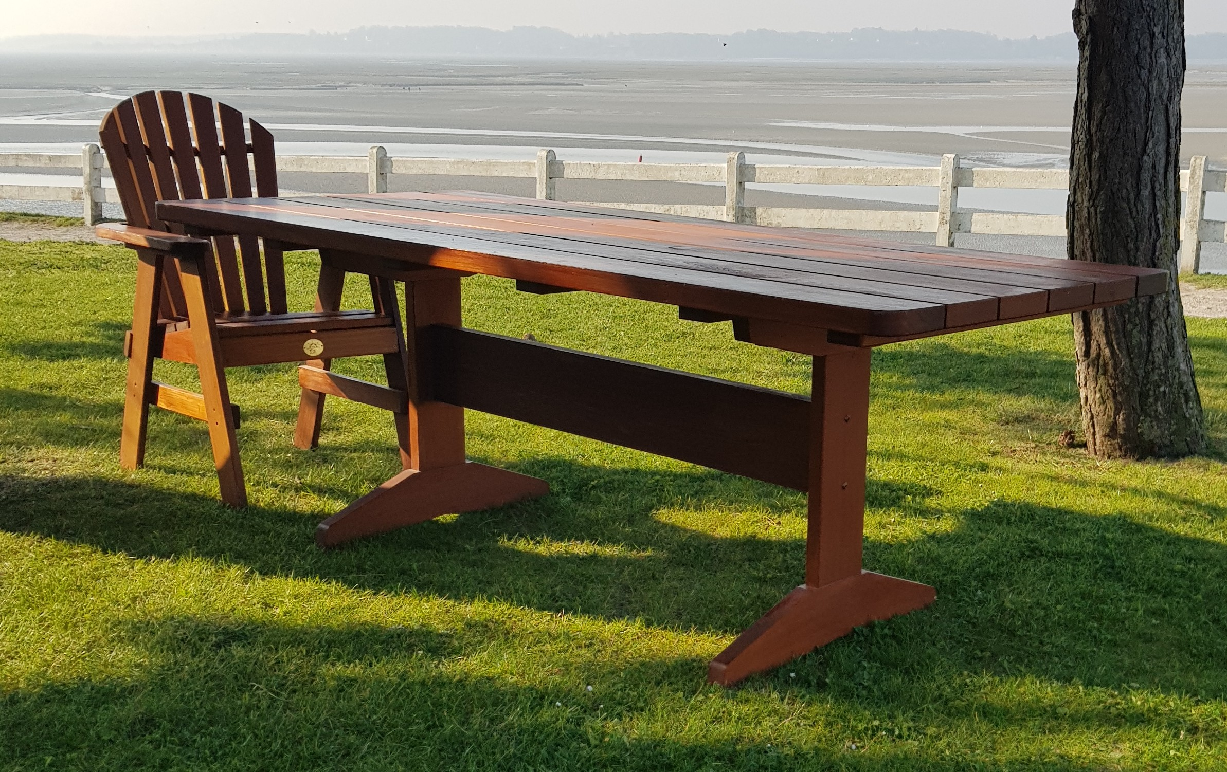 Impressive rectangular cedar Dining Table DRA220