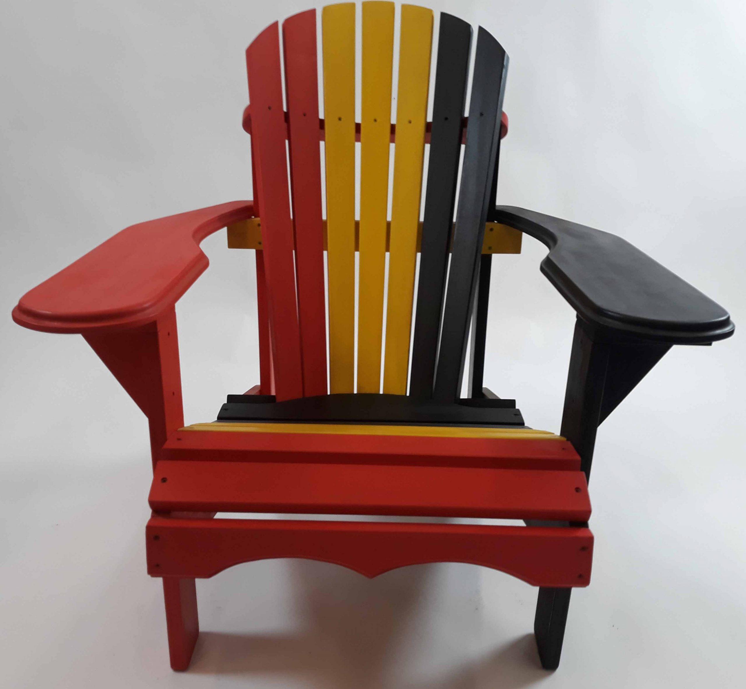 Tri-colore grenen Bear Chair