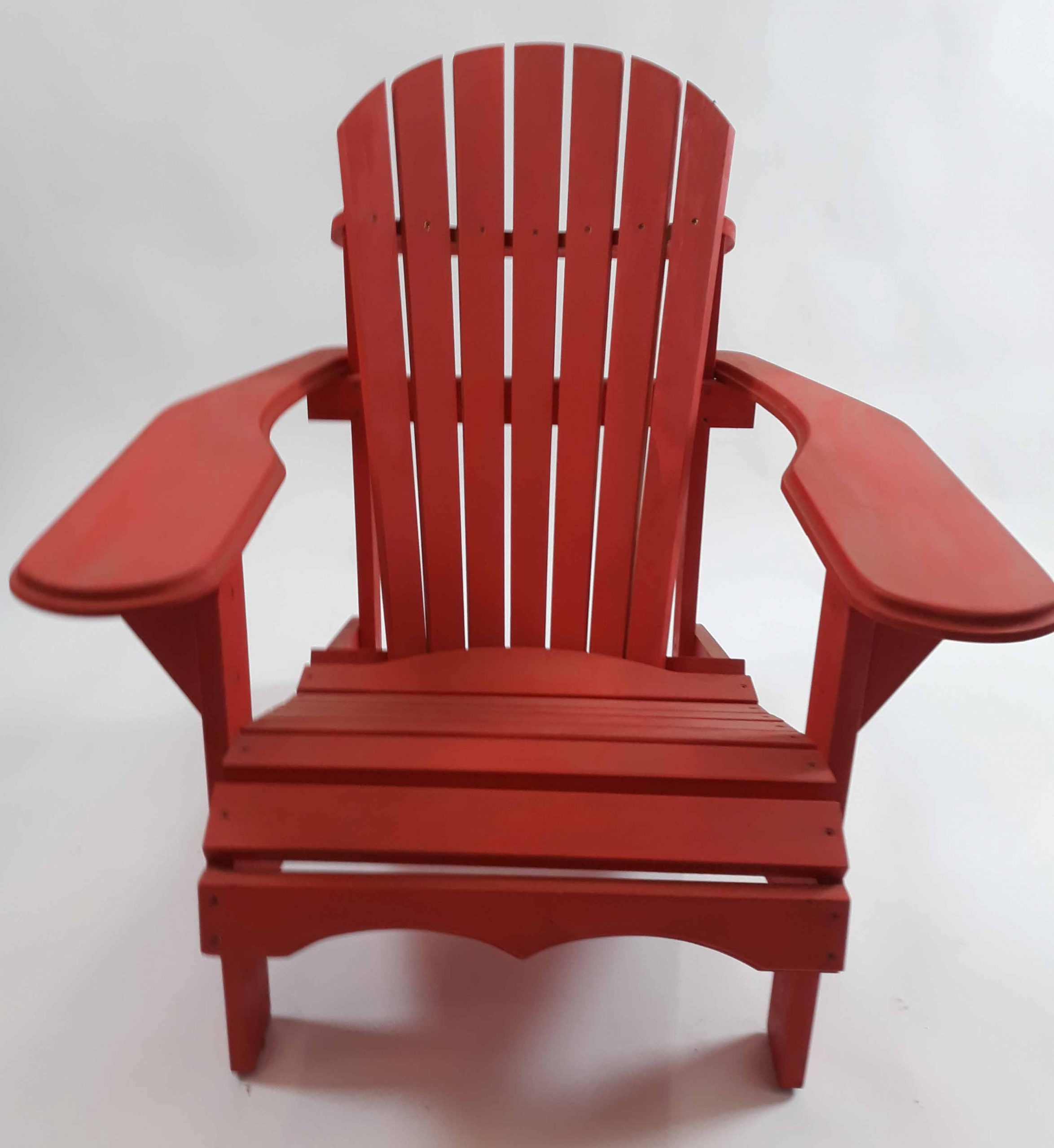 Pine Bear Chair Red