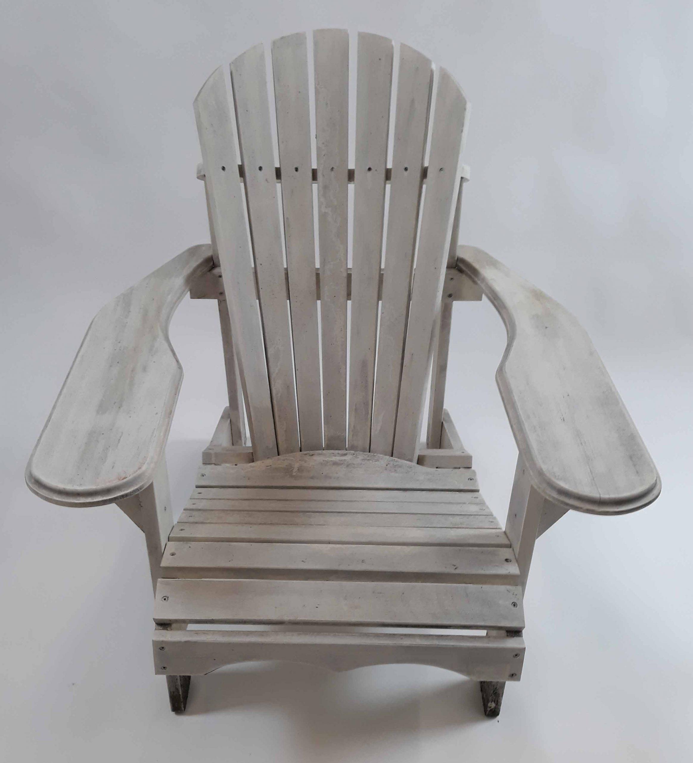 Wit grenen Bear Chair