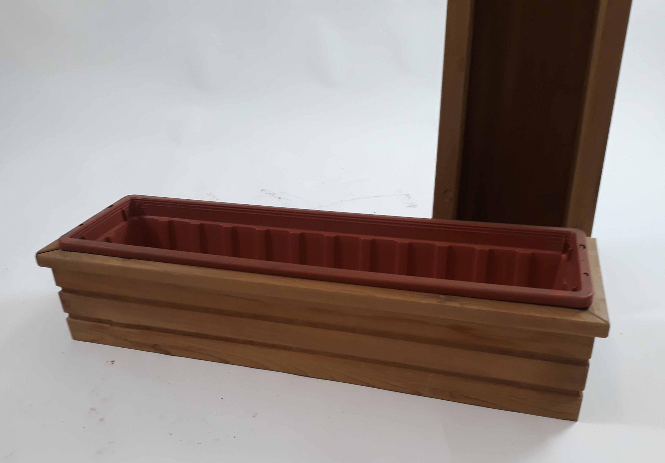 4x Red Cedar plantenbak