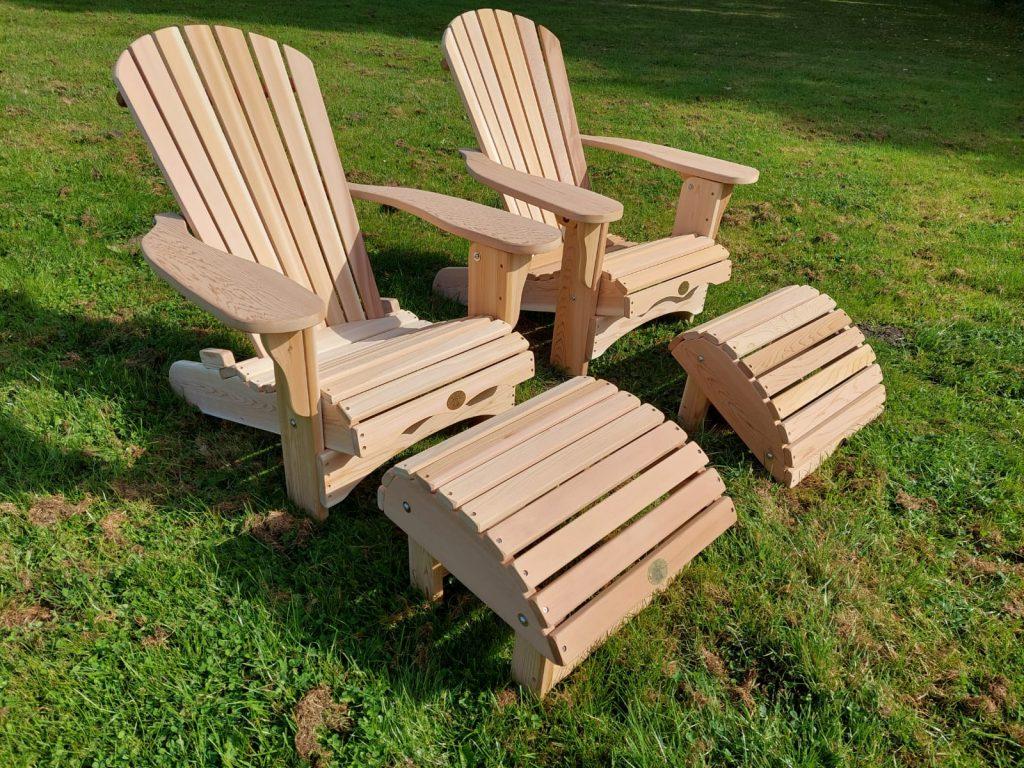 2x Royal Bear Chair + 2x Repose Pieds